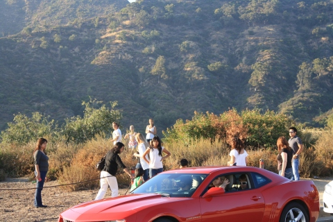 Tourists on Mulholland Highway in 2011/Hope Anderson Productions