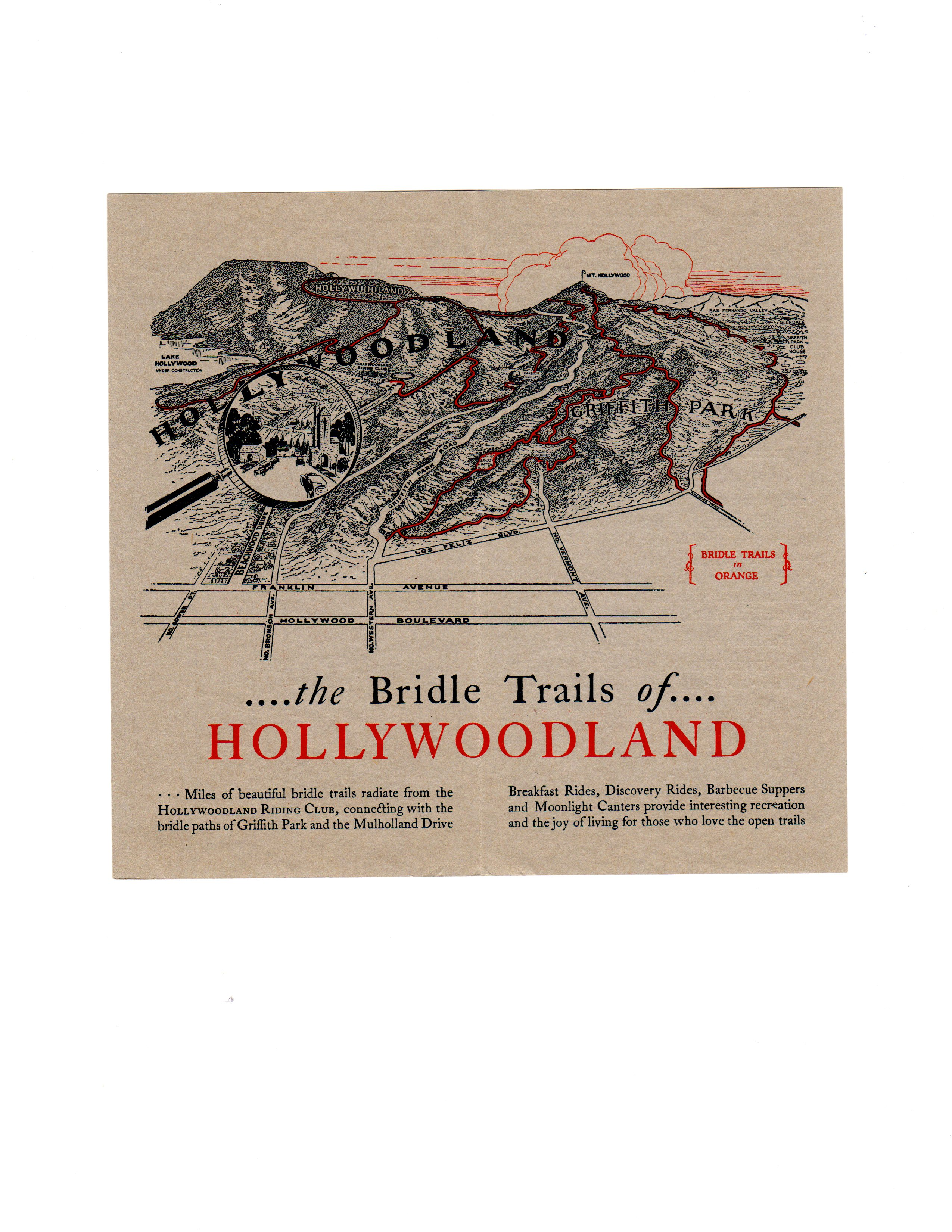 Inside the Pamphlet, a Map of Hollywoodland/Hope Anderson Productions