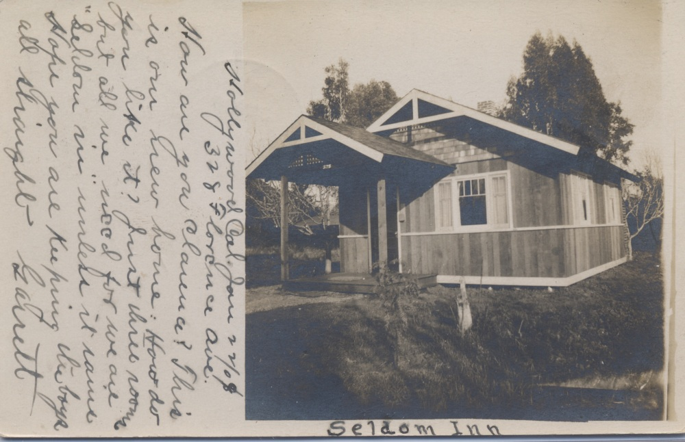 A Hollywood Newcomer's Cabin, 1909