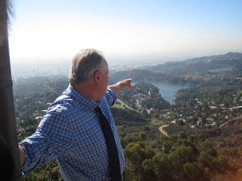 Councilman Tom LaBonge at the Hollywood Sign/tomlabonge.com