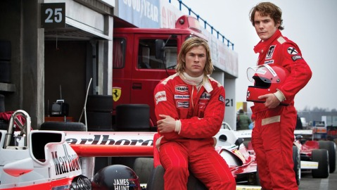 "Chris Hemsworth and Daniel Bruhl in ""Rush""/Courtesy Hollywood Reporter"