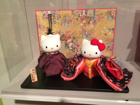 Hello Kitty Hinamatsuri (Doll Festival) Emperor and Empress Dolls, at the Japanese-American National Museum