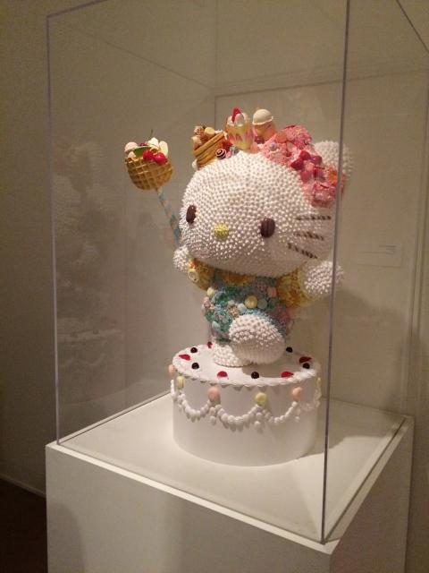 Hello Kitty birthday cake sculpture at JANM