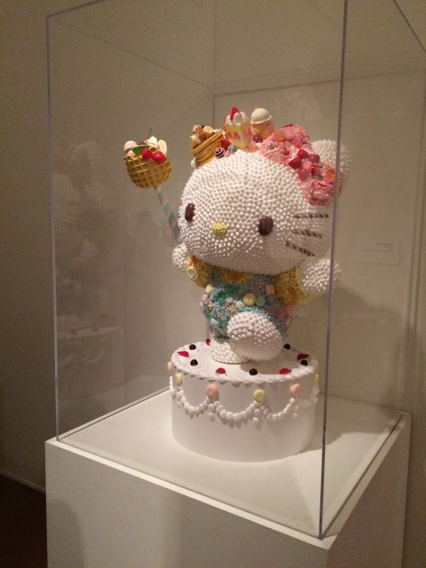Hello Kitty birthday cake sculpture at JANM