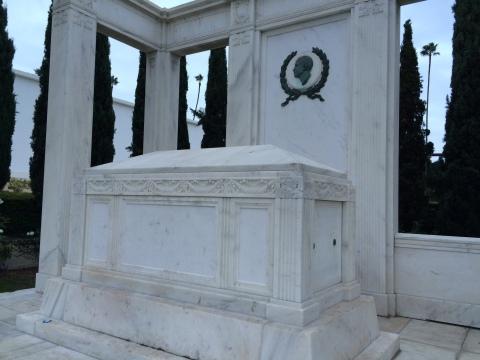 The Fairbanks Memorial, burial place of Douglas Sr. and Jr.