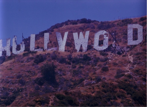 The Hollywood Sign As It Looked on August 7, 1978/Both Photos Courtesy Raiden Peterson