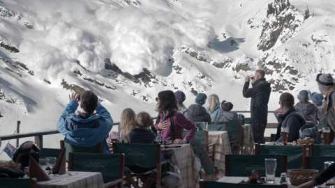 "Facing the Avalanche in ""Force Majeure""/Magnolia Pictures"