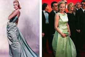 Grace Kelly in 1955 and Kim Basinger in 1998