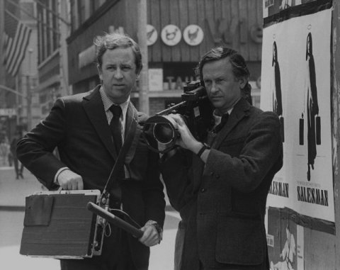 "David and Albert Maysles filming ""Salesman"" in 1968/Courtesy imdb.com"