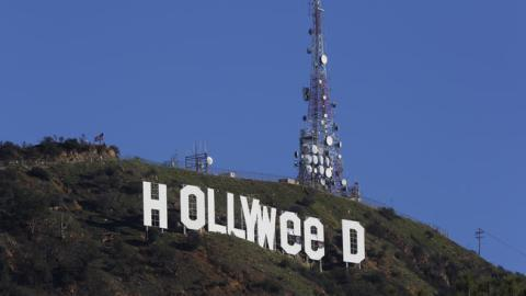 The Hollywood Sign on January 1, 2017/Courtesy LA Times